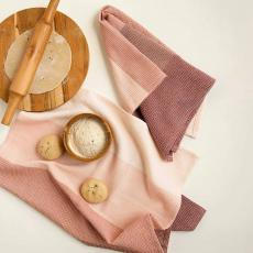 Blush Cotton Dish Towel Set of Two