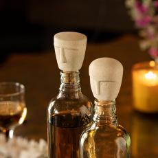 Head(y) Ceramic Bottle Stopper Set of Two