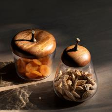 Apple & Pear Glass Jar Set of 2