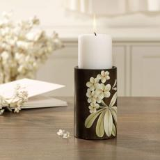 Frangipani Wooden Candle Holder (Large)