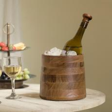Fryst Wooden Bottle Cooler with Glass Insert