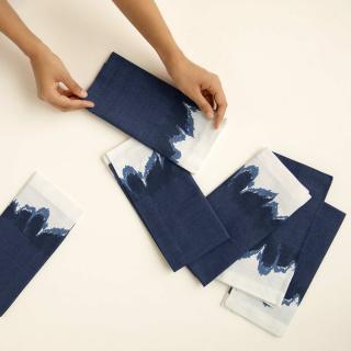 Elevating Blue Napkin Set of Six