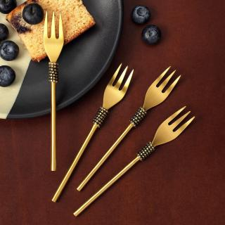 Masai Gold Dessert Fork (Set of 4)