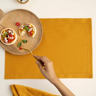 Mustard 100% Cotton Placemat Set of 6