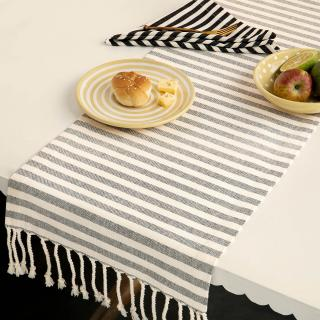 Classic Stripes 100% Cotton Table Runner