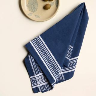 Aksa Blue 100% Cotton Napkin Set of 6