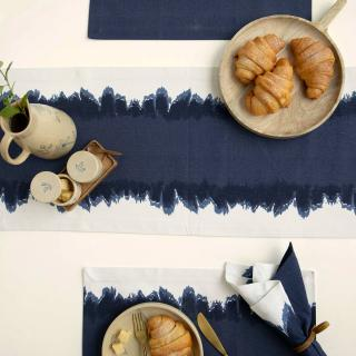 Elevating Blue Table Runner