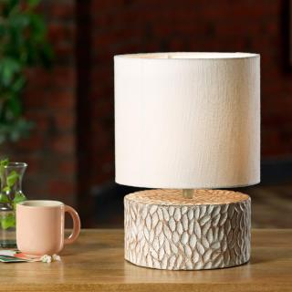 Pebble Drum Lamp With Shade