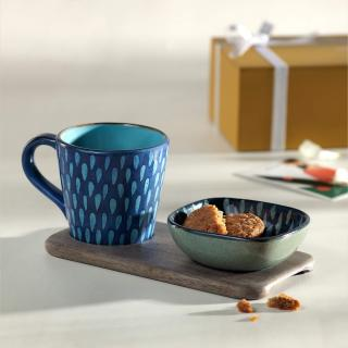 Solo Tea Set ( 1 Cup, 1 Bowl & 1 Platter) + Engineered Wooden Box