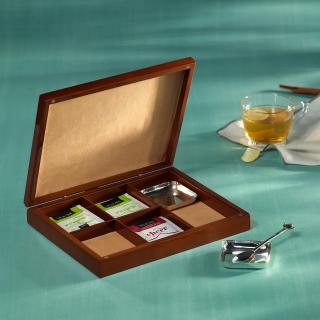 Tea Amore Gift Box, Two Brass Teabag rests & One Brass Teaspoon