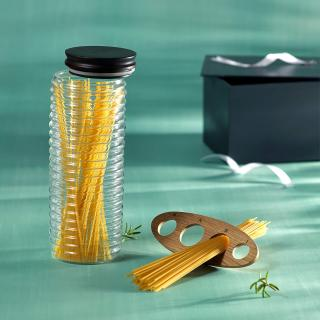 Savory Pasta Set (Jar & Pasta Measuring Tool) + Engineered Wooden Box