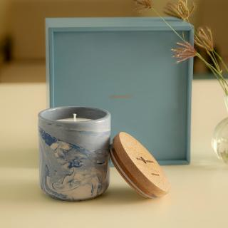 Vanilla & Lavender Natural Soy Wax Ceramic Jar with Wooden Lid (1 Wick)