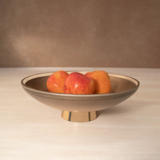 gold glass bowl- small