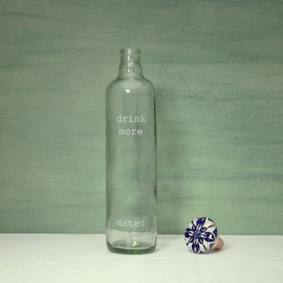 drink more glass water bottle with ceramic stopper