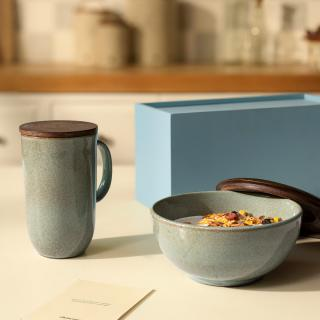 aqua rustic breakfast gift set