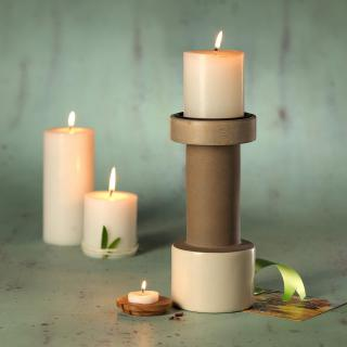 dunes ceramic candle stand- small