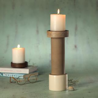 dunes ceramic candle stand- large