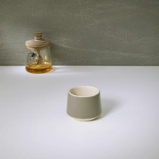 soul grey ceramic green tea cup