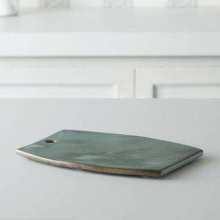 aqua rustic ceramic cheese board