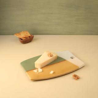 barnyard ceramic cheese board