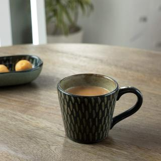 Indigo Stamp Ceramic Coffee Mug
