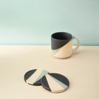 Monochrome Ceramic Coaster (Set of 2)