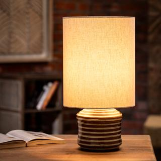 Shades of Grey Terracotta Table Lamp (Short)