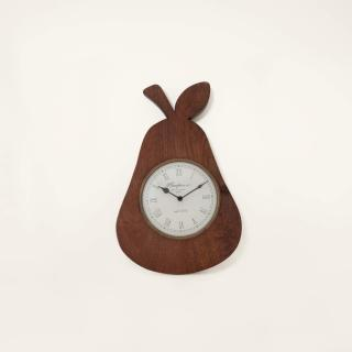 pear wooden wall clock