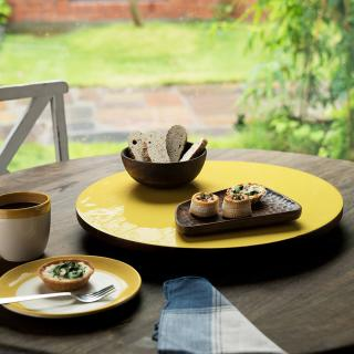 yellow orchard lazy susan