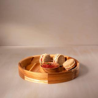 in teak wooden chip-n-dip