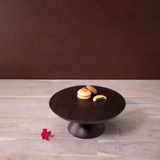 liyah brown wooden cake stand