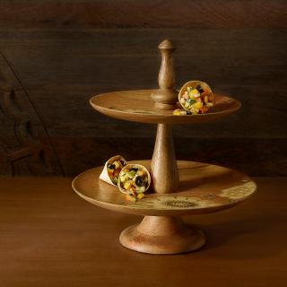 fleur d'or wooden cake stand