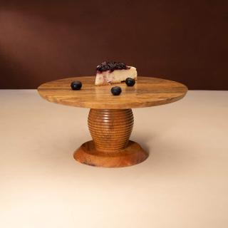 natural mango wooden cake stand