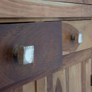 white square wood knob (set of 2)