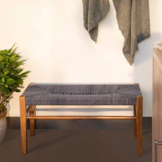 Twine Wooden Bench (Blue)