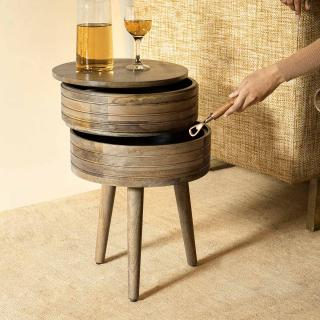 Two Decker Storage Side Table