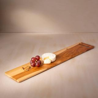 in teak wooden cheese/bread board long