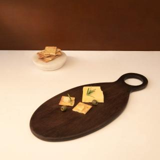 Brown Mango Wood Cheese Board- Medium