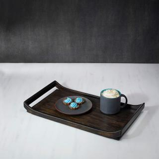 black wood tray