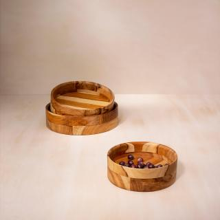 in teak wooden salad bowl- extra large