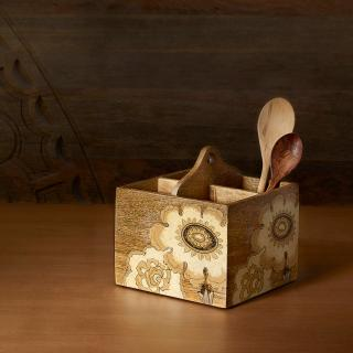 fleur d'or wooden cutlery stand