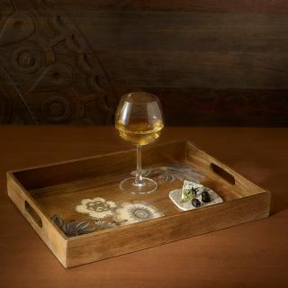 fleur d'or wooden tray rectangle