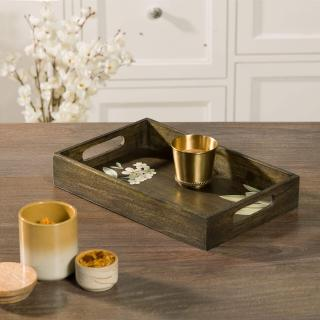 Frangipani Rectangle Wooden Tray