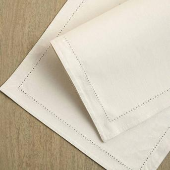 Pearl Grey Cotton Placemat Set Of Six Ellementry