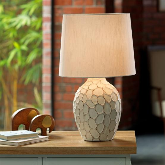 Pebble Pot Lamp With Shade- Ecomix