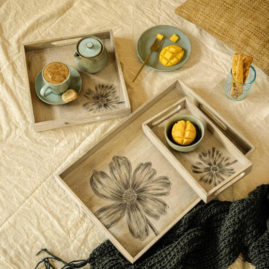 Flora Family Tray Set of 3